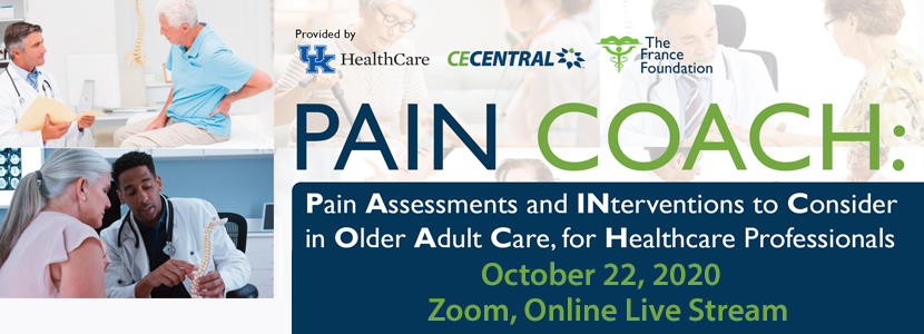 PAIN COACH: Pain Assessments and INterventions to Consider in Older Adult Care, for Healthcare Professionals